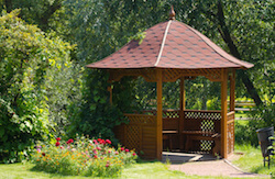 summerhouse in a garden